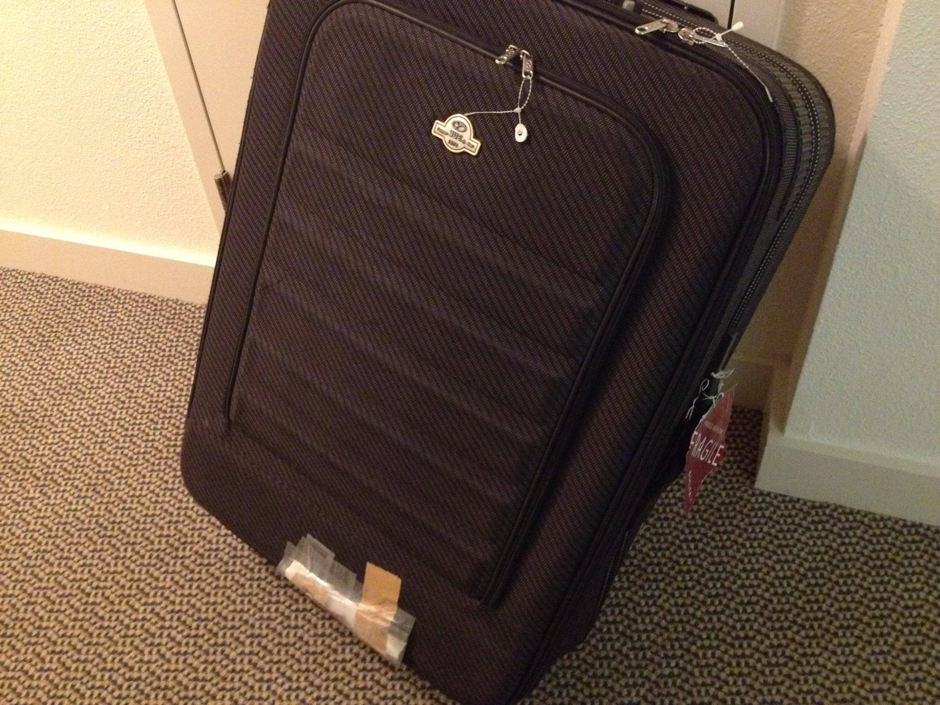 スーツケースが壊れたが、修理代は保険で全額補償