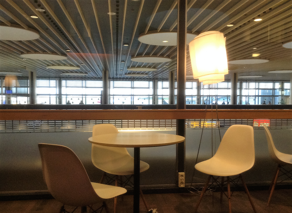 コペンハーゲン空港 Aspire Lounge ラウンジ内