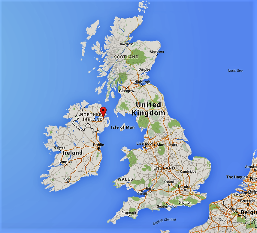 Google マップよりベルファストの位置