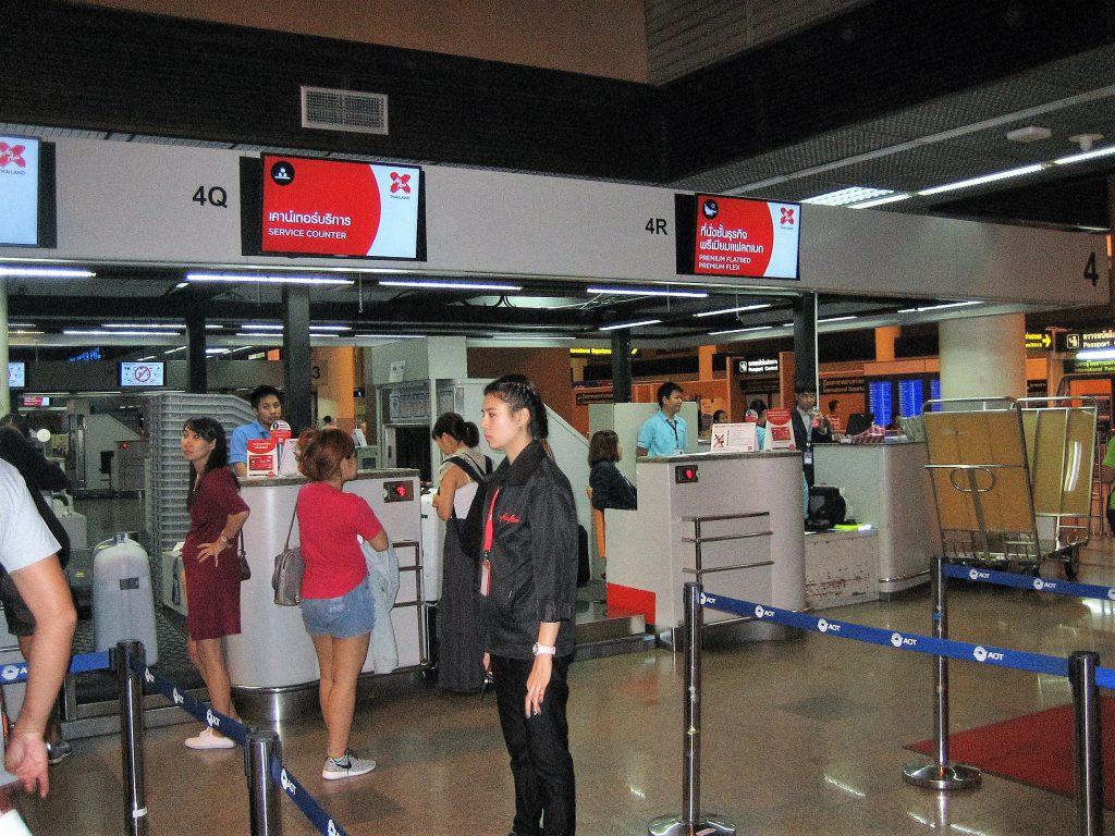 2016年4月1日ドンムアン空港エアーアジアカウンター
