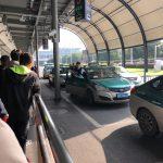 杭州空港から杭州钱江新城万豪酒店(Hangzhou Marriott Hotel Qianjiang)までタクシーで移動
