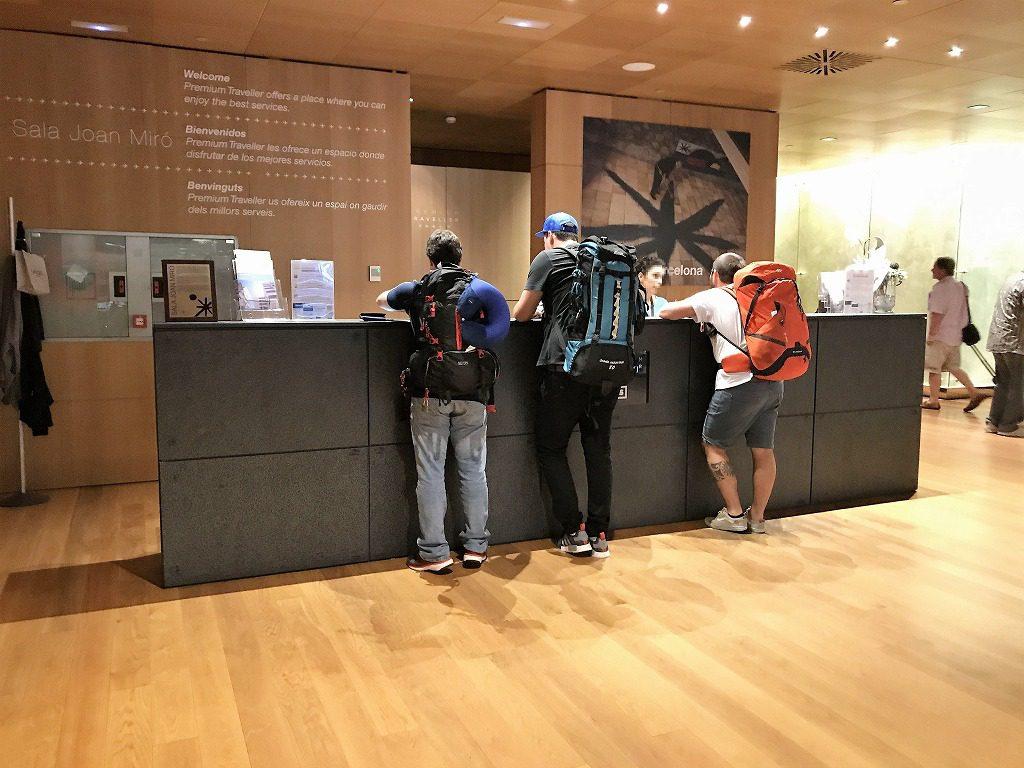 受付 バルセロナ空港の《Sala VIP Miro》