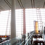 軽い食事ができる、北京首都国際空港「エアチャイナ ビジネスクラスラウンジ」