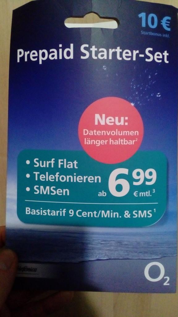 ドイツで購入したプリペイドしm