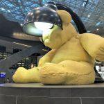ハマド空港のカタール航空ビジネスクラスラウンジ。目印は大きなクマのぬいぐるみ