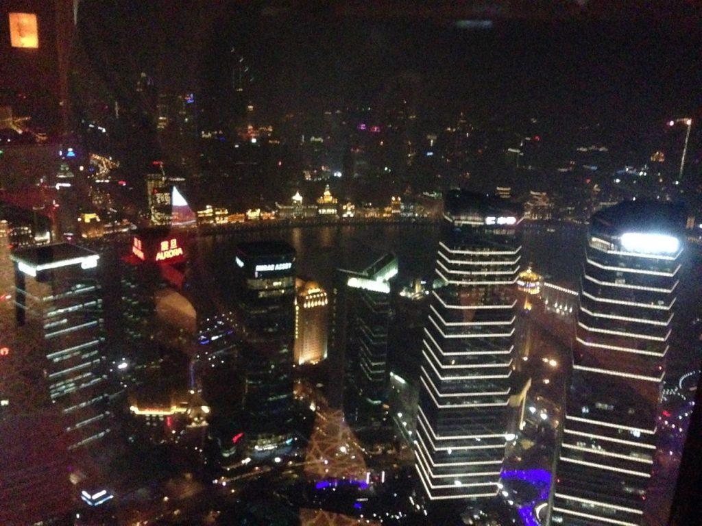 ANAマイルで年末の上海へ ホテルからの夜景