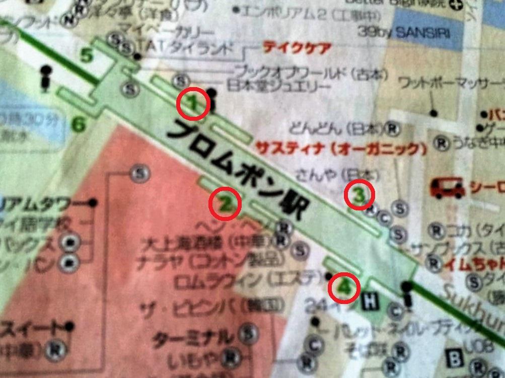 プロンポン駅地図