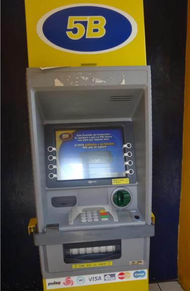 グアテマラ共和国では、クレジットカードでキャッシングが一番便利な換金方法でした