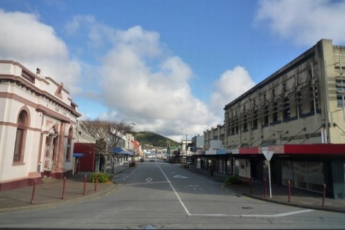 Greymouthの街並み